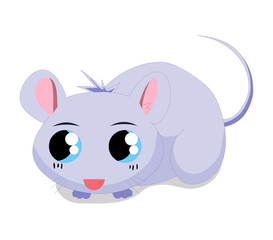 Cute baby mouse cartoon
