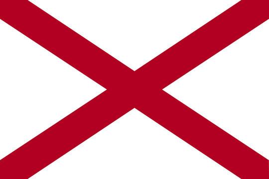 High detailed vector flag of Alabama