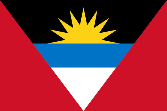 High detailed vector flag of Antigua and Barbuda