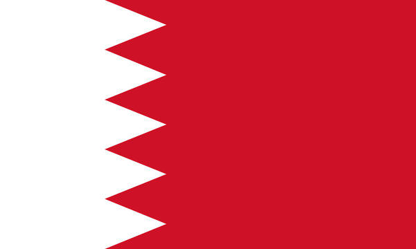 High detailed vector flag of Bahrain