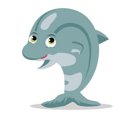 Cute baby dolphins cartoon