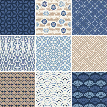 Japan seamless pattern collection