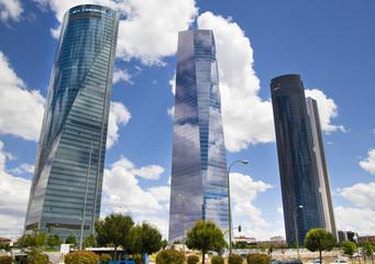 Madrid city business centre,
