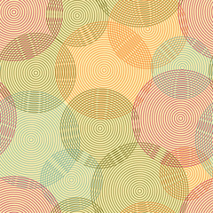 Abstract seamless background of rings. Vector