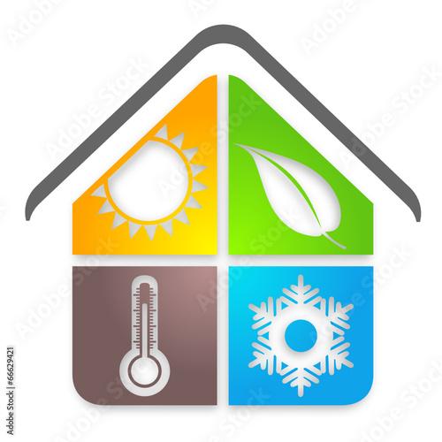 logo climatisation pompe chaleur fichier vectoriel libre de droits sur la banque d 39 images. Black Bedroom Furniture Sets. Home Design Ideas