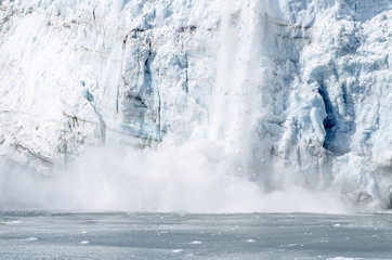 Calving of Marguerite Glacier in Alaska