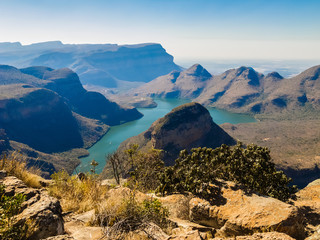 Photo on textile frame South Africa Scenic view of the Blyde River Canyon, South Africa