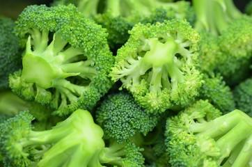 zbliżenie świeżych brokuł