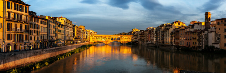 Fotomurales - Foot bridge Vecchio Florence