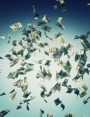 falling banknote