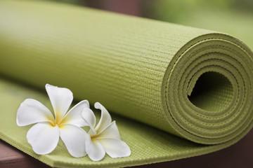 Photo sur cadre textile Gymnastique yoga mat