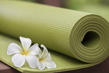 Keuken foto achterwand Gymnastiek yoga mat