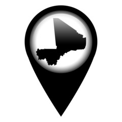 Vector pin with the map in - Mali
