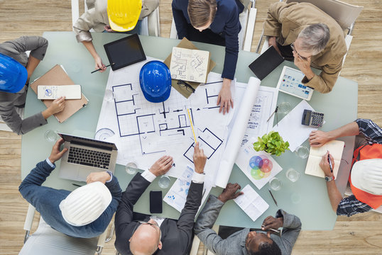 Architects and Engineers Planning on a New Project