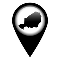 Vector pin with the map in - Niger