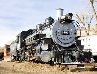 stem locomotive in Colorado Railroad Museum, USA
