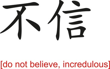 Chinese Sign for do not believe, incredulous
