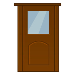 door isolated illustration