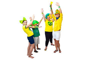 Brazilian fans celebrating