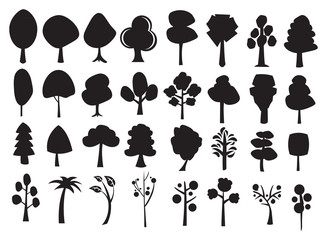 Vector illustration trees