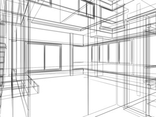sketch design of interior
