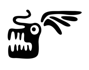 head of dragon in native style