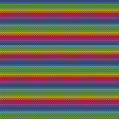 crazy rainbow knitted pattern