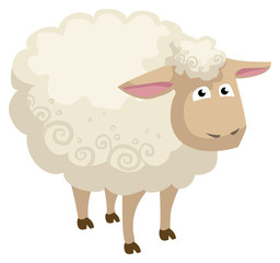 Cute cartoon sheep