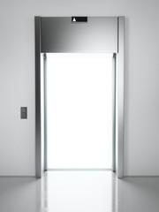 elevator with light inside