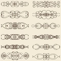 Ornate vintage divide lines