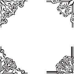 Ornate corner set