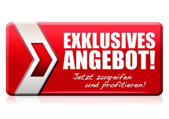 Exklusives Angebot! Button, Icon