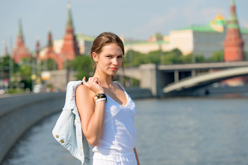 Beautiful girl in Moscow