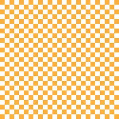 orange-weiss kariert