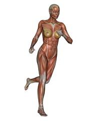 Woman running - 3D render