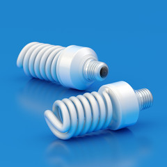 Two energy saving bulbs