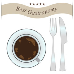 best gastronomy coffee fork and knife