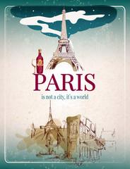 Paris retro poster