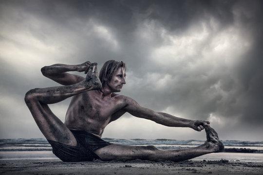 Power Yoga on the beach