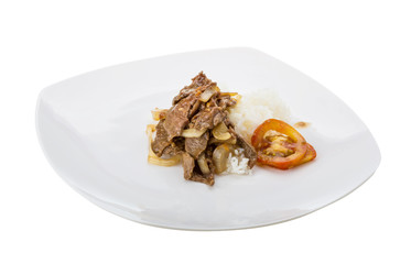 Beef with rice