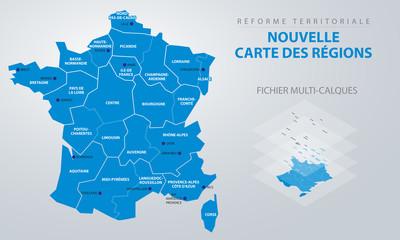 Réforme territoriale - Nouvelle carte des régions Fotomurales