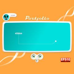 Portfolio or slides Web Design