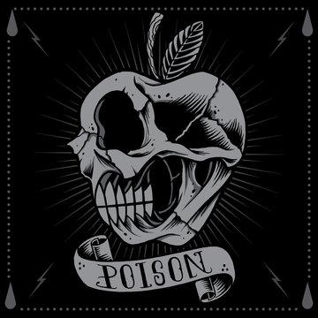 Poison Apple Skull
