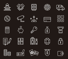 Money and Banking icon set