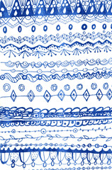 Painted original decorative pattern