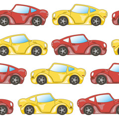 colored seamless pattern cars 3