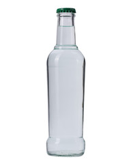 Beverage containing white glass isolated on a white background