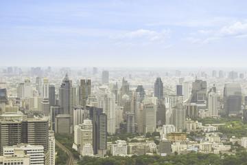 sky view of Bangkok city, Thailand