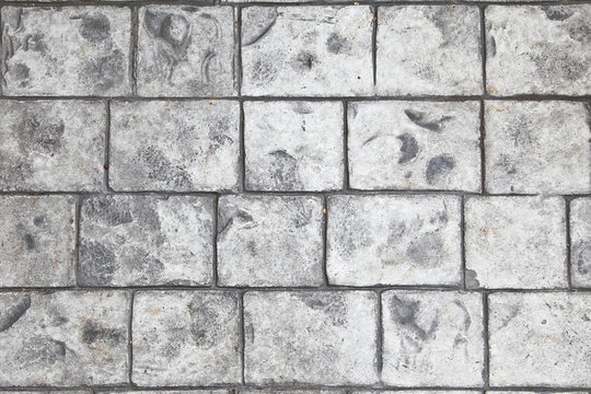 Stamped concrete floor background