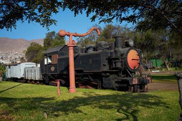 Historic Locomotive in Antofagasta, Chile